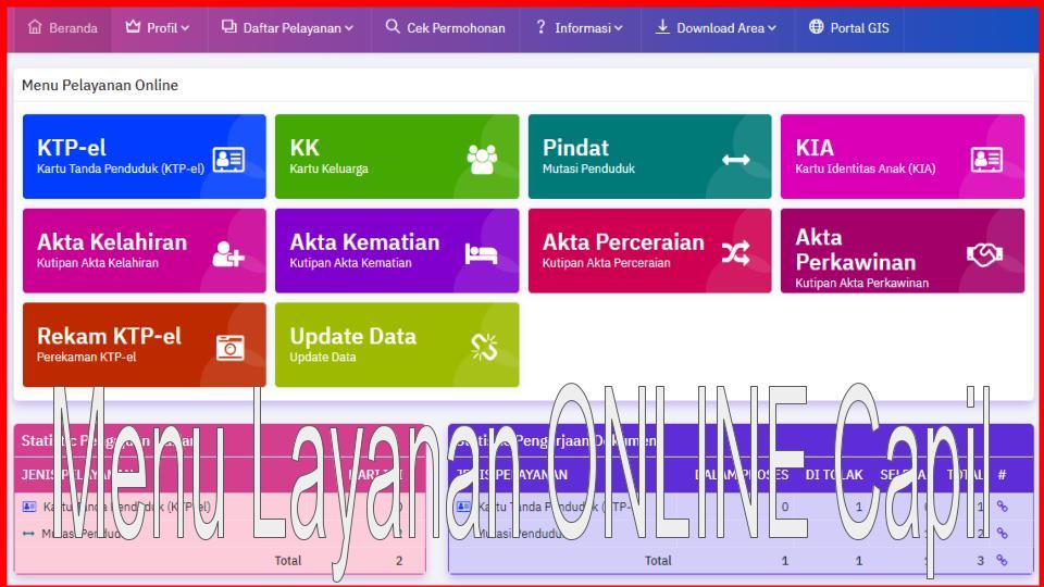 Mantap... Mulai 01 September 2020 Disduk Capil Lam-Sel Melayani Secara Online